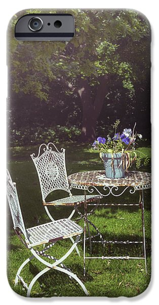 Furniture iPhone Cases - Relaxing Day In The Sun iPhone Case by Joana Kruse