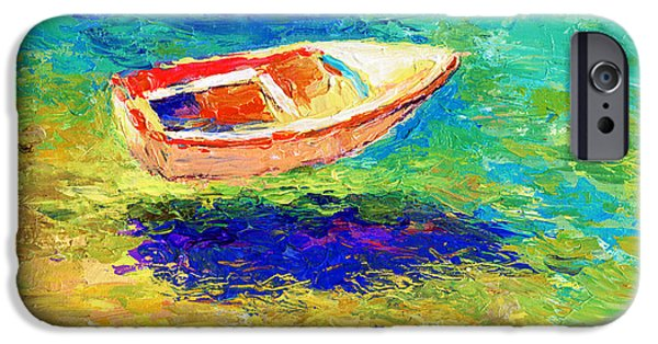 Boats In Water iPhone Cases - Relaxing getaway iPhone Case by Svetlana Novikova