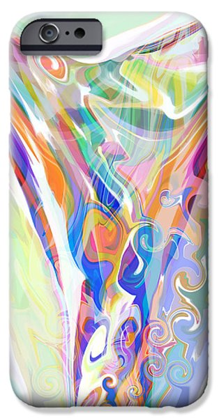 Blue Abstracts iPhone Cases - Releasing Burdens iPhone Case by Elva Robinson