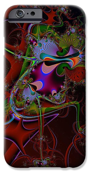 Colorful Abstract iPhone Cases - Relentless Thoughts iPhone Case by Solomon Barroa