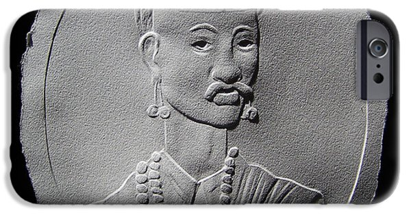 People Reliefs iPhone Cases - Relief Portrait Of Nana Phadanvis iPhone Case by Suhas Tavkar