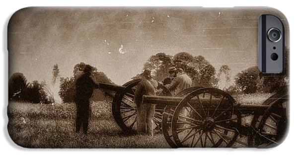 Gettysburg Digital iPhone Cases - Reloading the Cannons iPhone Case by Bill Cannon