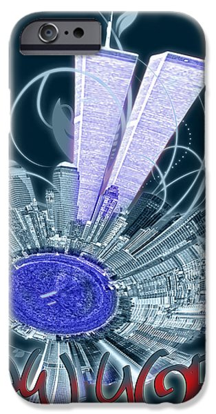 Twin Towers Nyc iPhone Cases - Remember 911 iPhone Case by Alexandr Grichenko