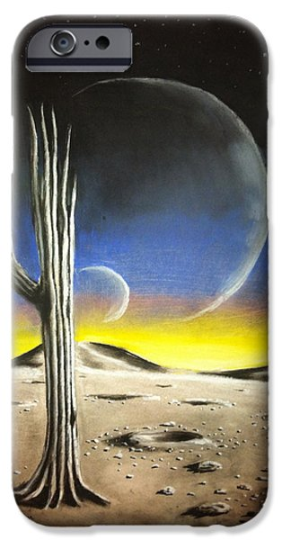 Science Fiction Pastels iPhone Cases - Remnants iPhone Case by Benjamin Gassmann
