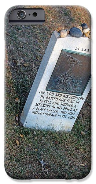 Cora Wandel iPhone Cases - Rene Gagnon Helped Raise The American Flag At Iwo Jima iPhone Case by Cora Wandel