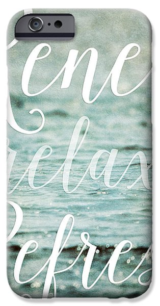 Renewing iPhone Cases - Renew Relax Refresh Bathroom Decor iPhone Case by Lisa Russo