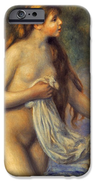 Bathing iPhone Cases - Renoir: Bather iPhone Case by Granger