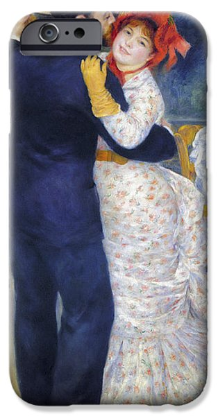 Recently Sold -  - Couple iPhone Cases - Renoir: Dancing, 1883 iPhone Case by Granger