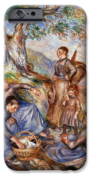 1880s iPhone Cases - Renoir: Grape Pickers iPhone Case by Granger