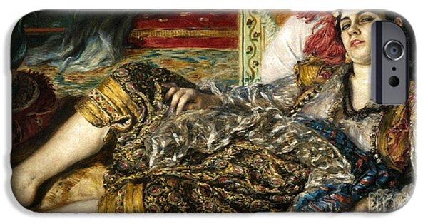 1870 iPhone Cases - Renoir: Odalisque, 1870 iPhone Case by Granger