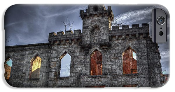 Ruin iPhone Cases - Renwick Ruins Up Close iPhone Case by Kenneth Neal