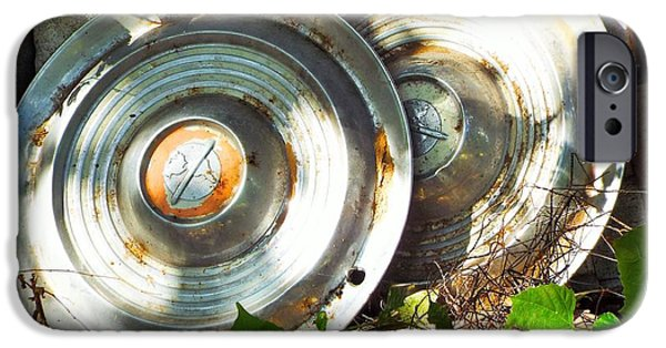 Old Cars iPhone Cases - Replaced with Spinners iPhone Case by Michael Dillon
