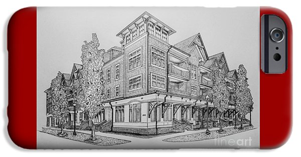 Charlotte Drawings iPhone Cases - Residential Rendering 2035 iPhone Case by Robert Yaeger