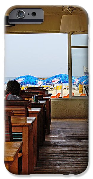 Restaurant on a beach in Tel Aviv Israel iPhone Case by Zalman Latzkovich