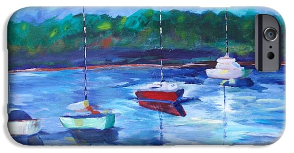 Sailboat Ocean iPhone Cases - Resting on the Pamlico iPhone Case by Kimberly Balentine