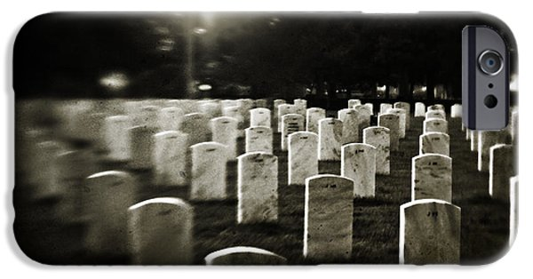 Head Stones iPhone Cases - Resting Place iPhone Case by Scott Pellegrin