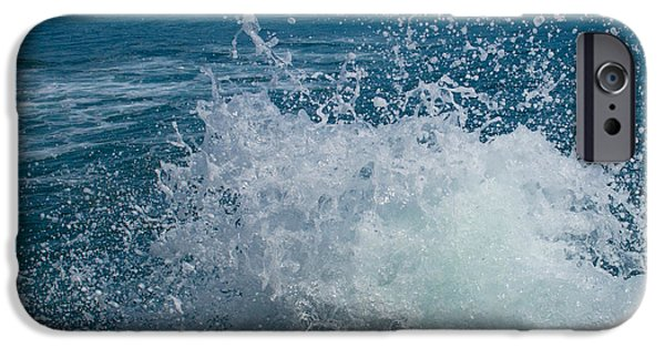 Abstract Seascape iPhone Cases - Restless Seas iPhone Case by Dave Byrne