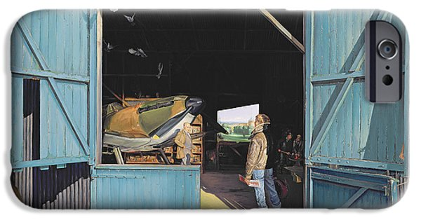 Mechanics Paintings iPhone Cases - Restoration iPhone Case by Timothy Easton