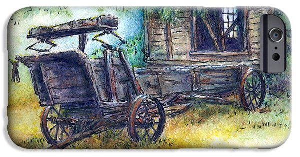 Shed Drawings iPhone Cases - Retired At Last iPhone Case by Retta Stephenson