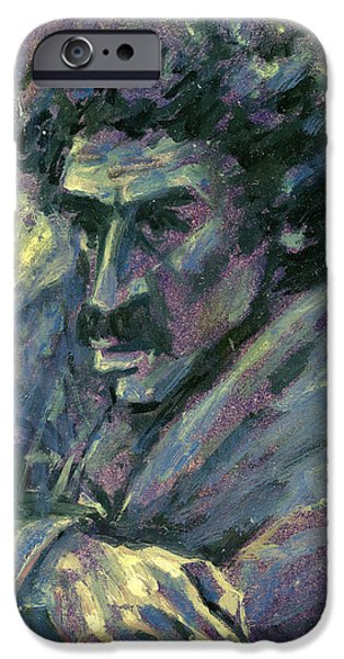 Artistic Portraiture iPhone Cases - Retrato iPhone Case by Orhan Ilyas