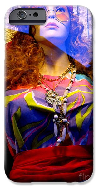 Retro Fashion iPhone Case by Colleen Kammerer