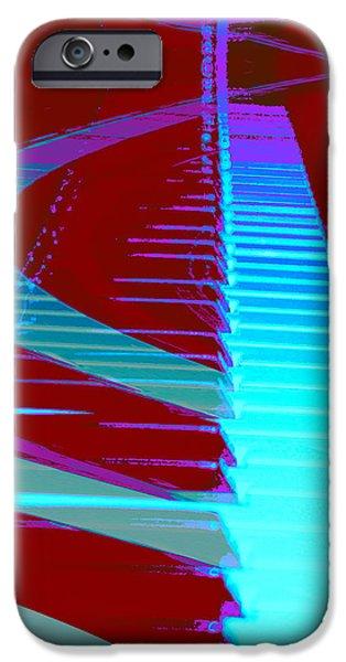 Piano iPhone Cases - Retro Keys iPhone Case by Linda Sannuti