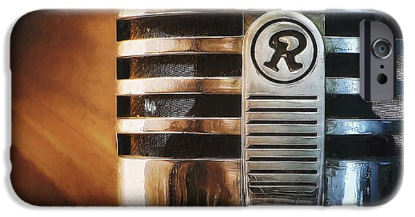 Old-fashioned iPhone Cases - Retro Microphone iPhone Case by Scott Norris