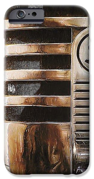 Retro Microphone iPhone Case by Scott Norris
