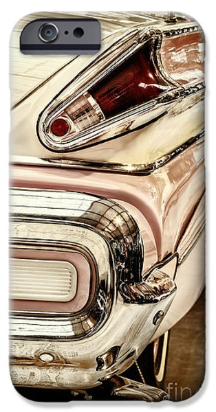 Old Cars iPhone Cases - Retro styled rear of a Buick Century Convertible iPhone Case by Martin Bergsma