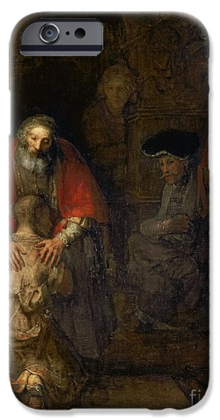 Testament iPhone Cases - Return of the Prodigal Son iPhone Case by Rembrandt Harmenszoon van Rijn