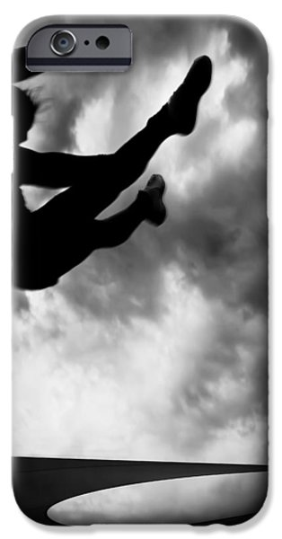 Freedom iPhone Cases - Returning to Earth iPhone Case by Bob Orsillo