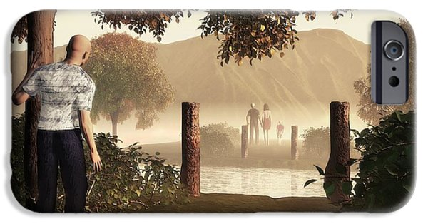 Atonement iPhone Cases - Returning To The Bridge That Burned iPhone Case by John Alexander
