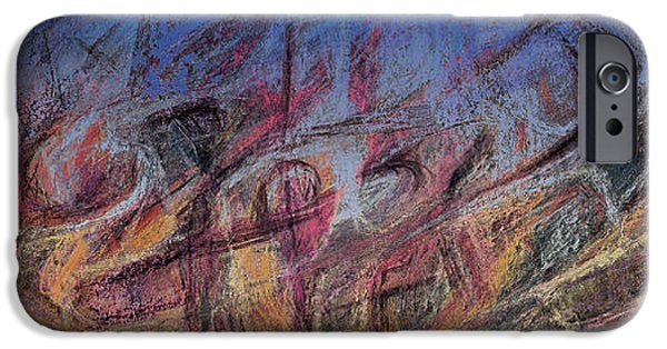 Abstract Expressionist Pastels iPhone Cases - Revenge of the Misunderstood Machines iPhone Case by Tom Kecskemeti