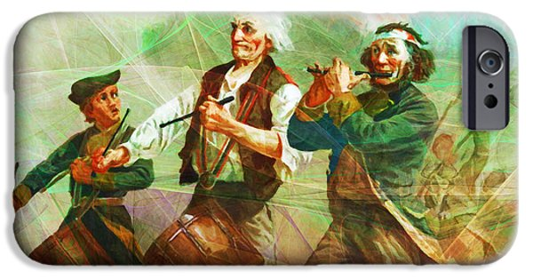 Fourth Of July iPhone Cases - Revisiting The Spirit of 76 20150704long iPhone Case by Wingsdomain Art and Photography