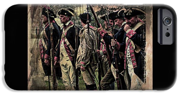 American Revolution iPhone Cases - Revolutionary Soldiers  iPhone Case by Marcia Lee Jones