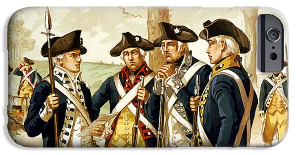 Patriots Day iPhone Cases - Revolutionary War Infantry iPhone Case by War Is Hell Store