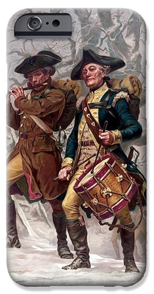 Best Sellers -  - 4th July iPhone Cases - Revolutionary War Soldiers Marching iPhone Case by War Is Hell Store