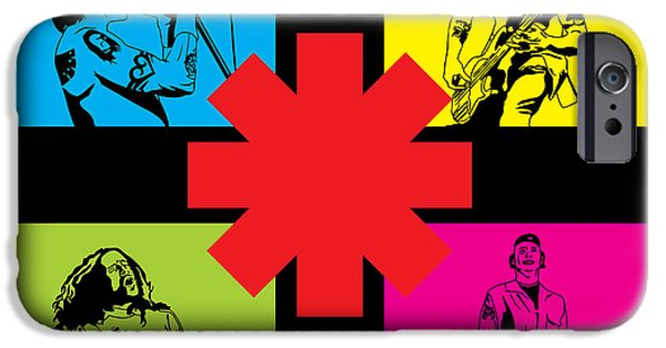 Famous Artist iPhone Cases - RHCP No.01 iPhone Case by Caio Caldas