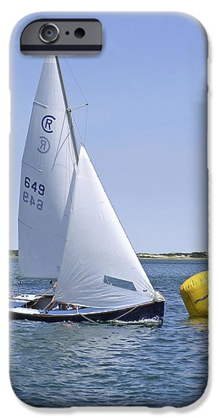 Rhodes iPhone Cases - Rhodes 18 Rounding the Mark iPhone Case by Charles Harden
