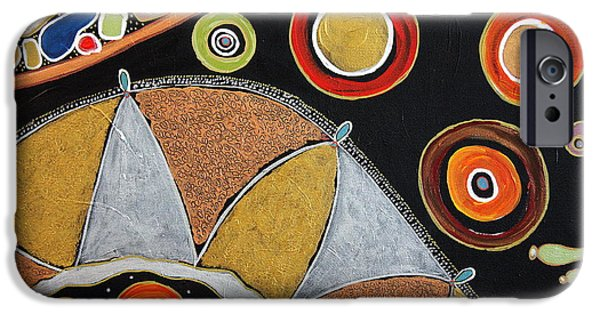 Biological Paintings iPhone Cases - Rhythm flow... iPhone Case by Jolanta Anna Karolska