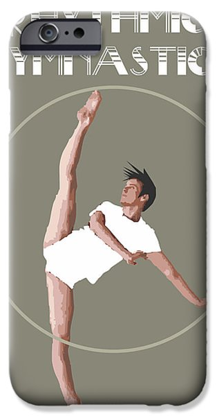 Recently Sold -  - Abstract Digital Drawings iPhone Cases - Rhythmic Gymnastics By Quim Abella iPhone Case by Joaquin Abella