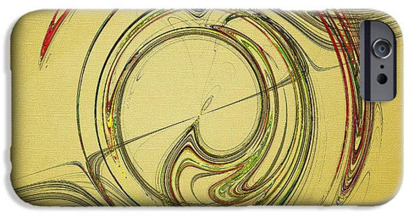 Abstract Digital Photographs iPhone Cases - Flowing Rhythms iPhone Case by Jan Tyler