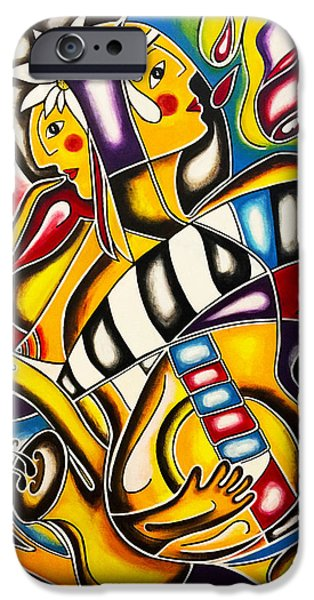 Wine Bottles iPhone Cases - Rhythms iPhone Case by Maria Saravo-Carlson