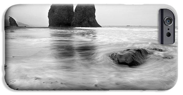 Beaches iPhone Cases - Rialto Reflections iPhone Case by Mike  Dawson