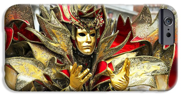 Glitter Glove iPhone Cases - Ribbon Man 2015 Carnevale di Venezia Italia iPhone Case by Sally Rockefeller