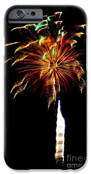 4th July Photographs iPhone Cases - Ribbons of Light iPhone Case by Leah McPhail