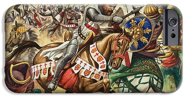 The Horse iPhone Cases - Richard the Lionheart during the Crusades iPhone Case by Peter Jackson