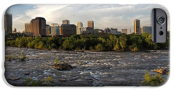 Turbulent Skies iPhone Cases - Richmond Evening Skyline iPhone Case by Jemmy Archer