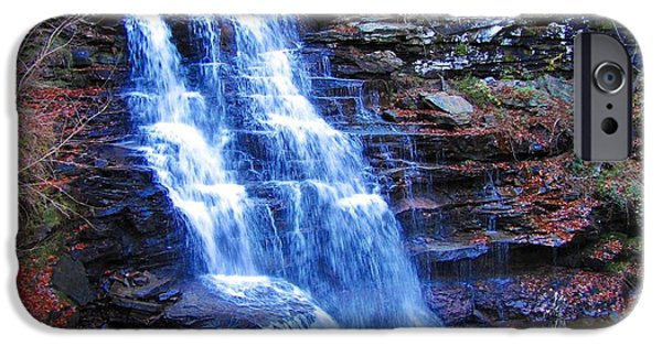 Canoeing iPhone Cases - Ricketts Glen Waterfall 3941  iPhone Case by David Dehner