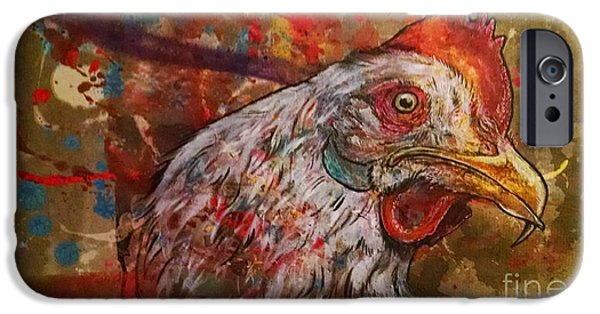 Strange iPhone Cases - Ricki chick   iPhone Case by Stewart Knight
